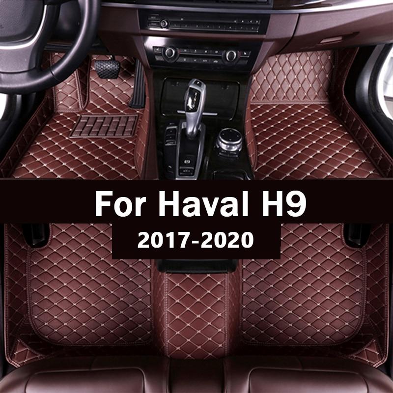 Car floor mats for haval H9 seven seats 2017 2018 2019 2020Custom auto foot Pads automobile