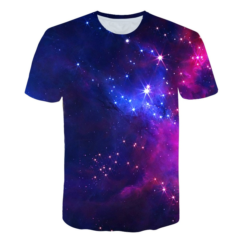 Galaxy Tshirt boy/girls Universe Space T Shirt Hip Hop Tee 3d Print Tshirt Cool kids Clothing 2019 Summer Hiphop Clothes