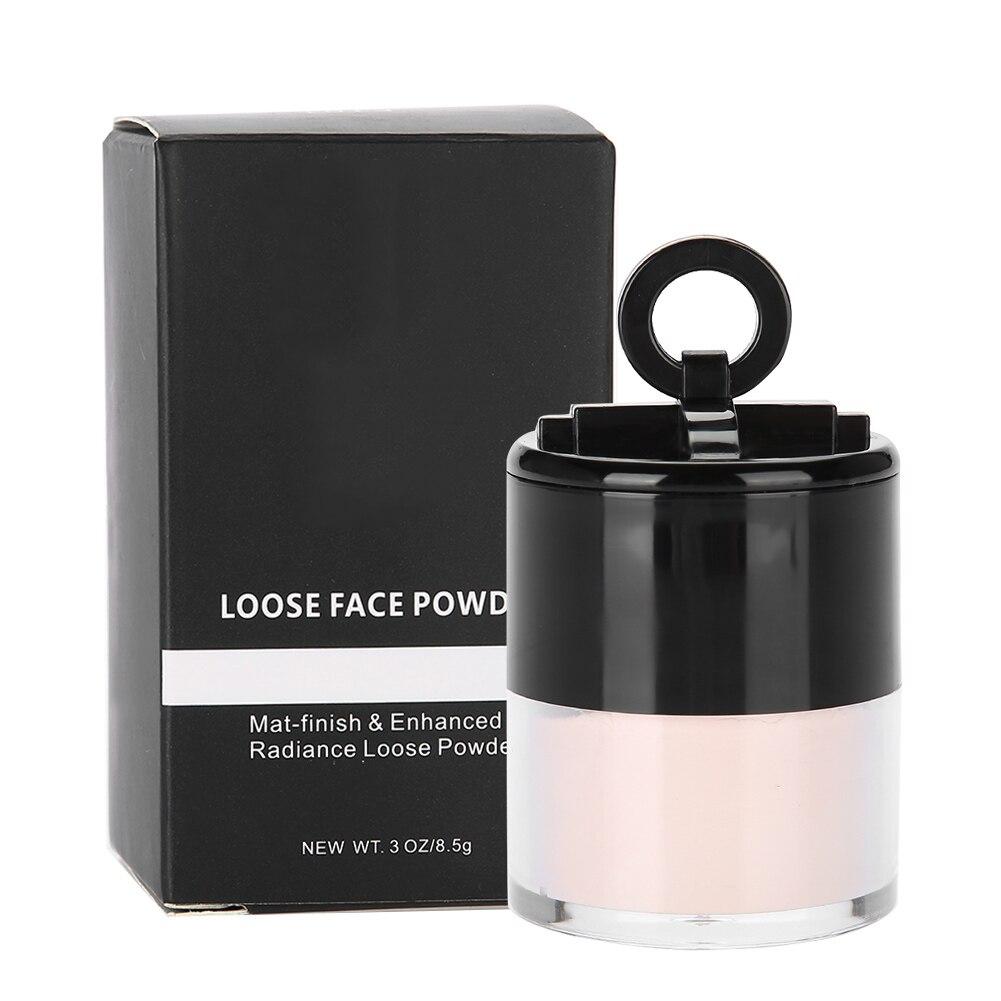 Piel de la cara polvo suelto translúcido de aceite de Control blanqueamiento maquillaje cosmético de larga duración de licitación encantador brillo polvo suelto
