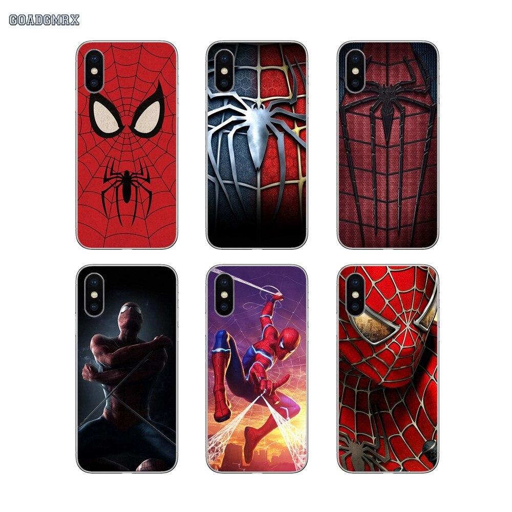 Marvel Co mi cs hombre araña suave transparente para Xiaomi mi 4I 4C mi x 2S Max rojo mi S2 2 3 3S 4 16G 5 y G 5 Plus 6 Pro 32G 4A 5A 6A 4X