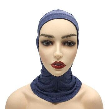 Stretch Turban Cap Muslim Underscarf Hijab Caps Islamic Bonnet Solid Color Under Scarf Caps