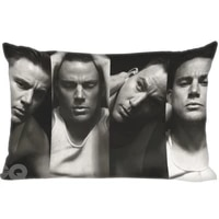 channing tatum double sided rectangle pillow covers bedding comfortable cushiongood for sofahomecar high quality pillow cases