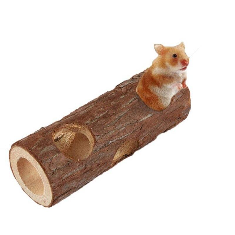 Lindos conejos de madera Natural juguetes de pino mancuernas monociclo campana rodillo masticar Juguetes Para conejillos de indias rata pequeña mascota molares suministros
