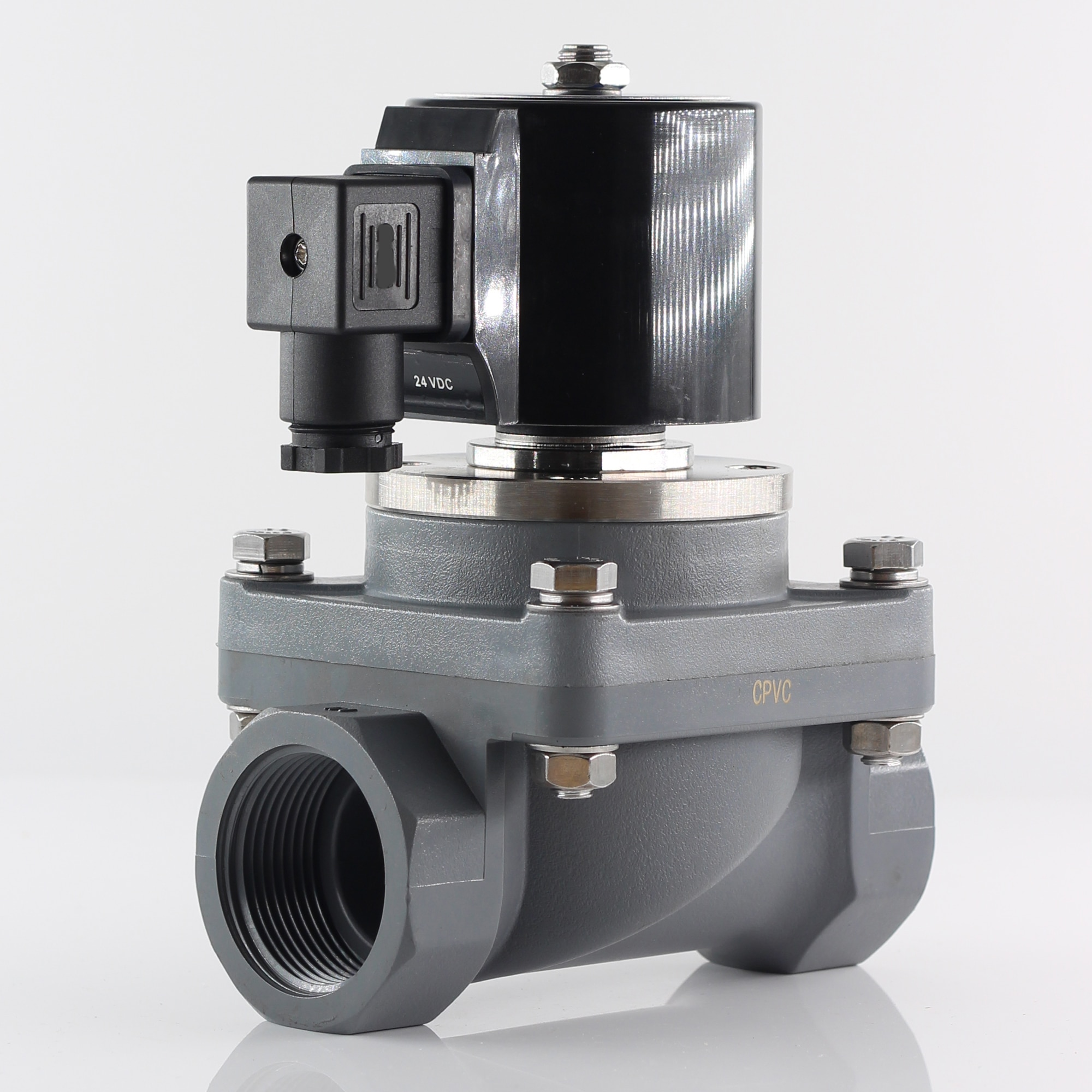 G или NPT N.C антикоррозийный электромагнитный клапан, переменный ток 220 В 110 В, диафрагменный управляемый клапан, постоянный ток 24 В DN15 ~ DN50 для к...