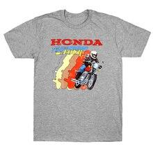 Honda hommes rétro t-shirt Harajuku gris Streetwear chemise