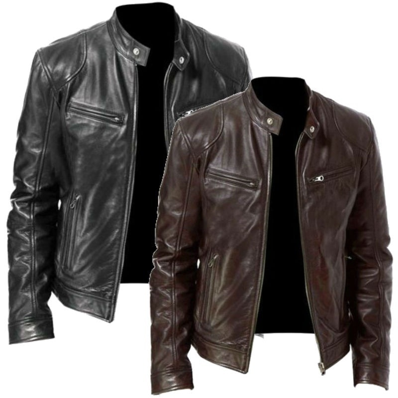 New men's fashion coat jacket jackets  men clothing  cow jacket  leather jacket men