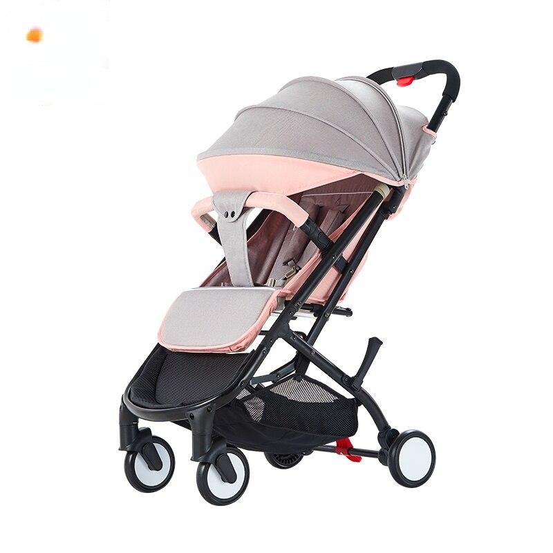 عربة أطفال جالسة مستلقية خفيفة الوزن محمولة قابلة للطي صغيرة وبسيطة عربة أطفال بالدفع باليد مظلة سيارة