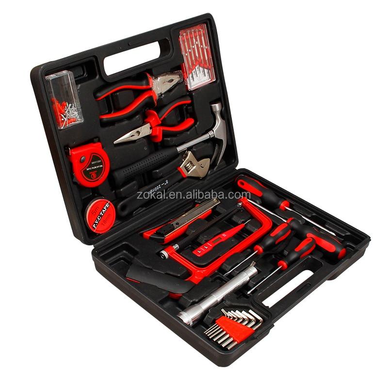 32 шт., набор ручных инструментов с пластиковым ящиком для хранения