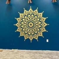 radiance mandala wall vinyl sticker large mandala decoration interior removable bohemian mandala art mural e720