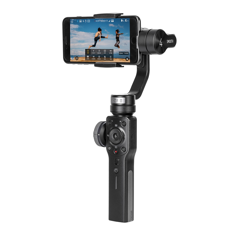 Review ZHIYUN Smooth 4 3-Axis Phone Gimbals Handheld Stabilizers for Smartphones iPhone/Samsung/Huawei/Xiaomi/Action Camera