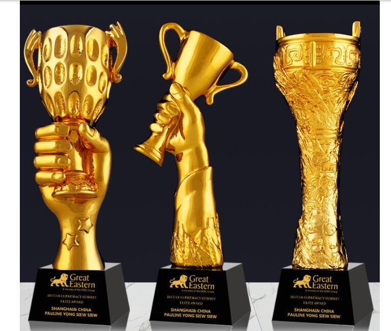 Esportes presente da Copa Do Mundo troféu personalizado chapeamento de impressão Criativa para o mau Personalizado troféus venda direta artesanato Livre engravi