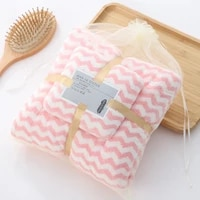 coral fleece water ripple hair swimming towels face hand bath towel sets bathroom towel for women microfiber towel set for gift