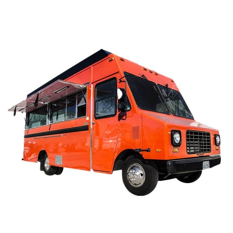Carrito de comida rápida Popular estadounidense 2020, remolque de comida para camión con cocina móvil para aperitivos