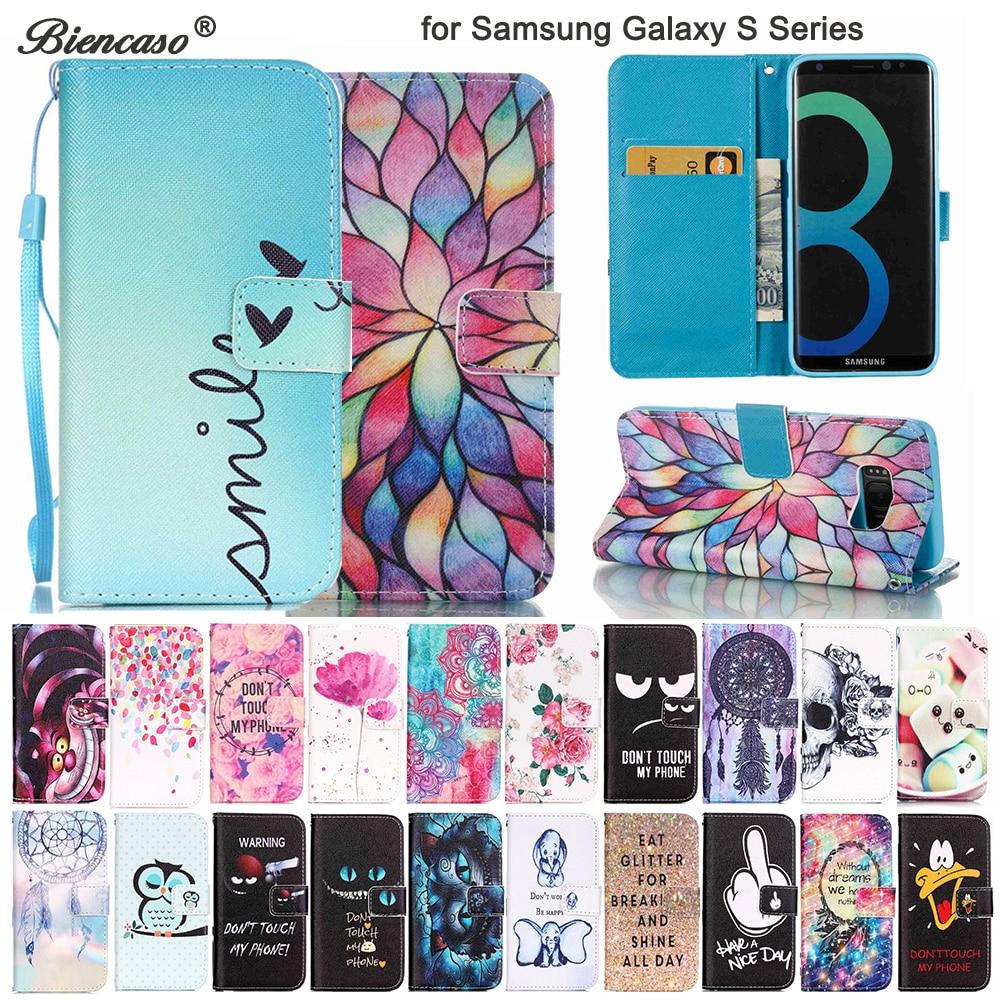 Carteira Do Caso Da Aleta para Samsung Galaxy S9 Biencaso S8 Plus S7 Borda Borda S6 S5 S4 S3 mini i9190 i9300i8190 capa protetora Capa B21