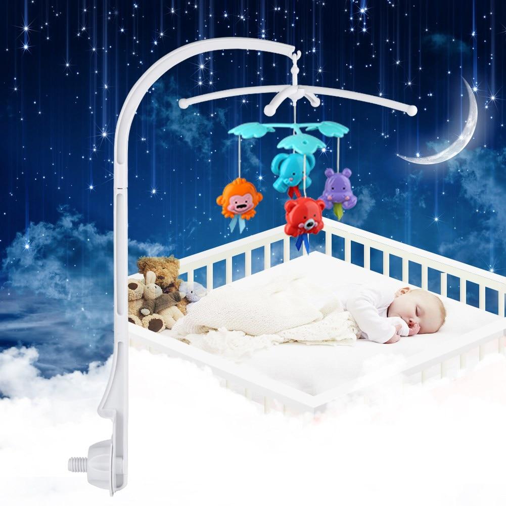 Детские крепление для детской кроватки белый погремушки Кронштейн Набор кроватка 360 градусов вращающийся Рабочий стол колыбельки Заводной...