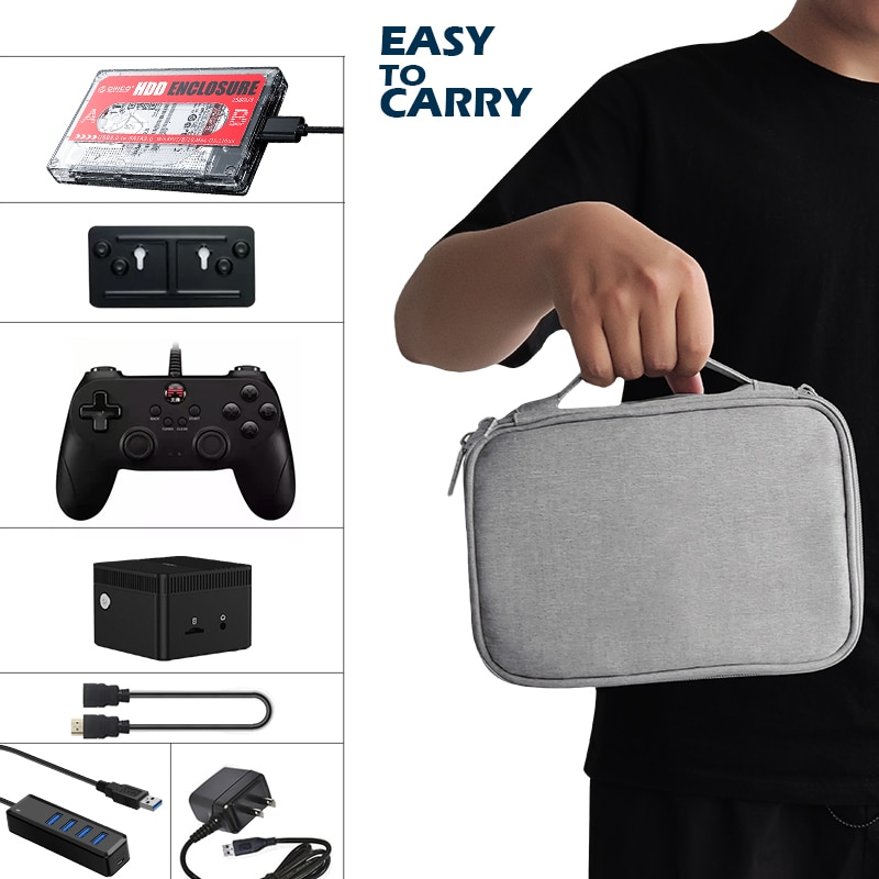Retro Video Game Console 61000+ Games Super Console X PC Mini Chuwi Larkbox Win11+Batoera System For WII/PSP/N64/PS2/Sega Saturn