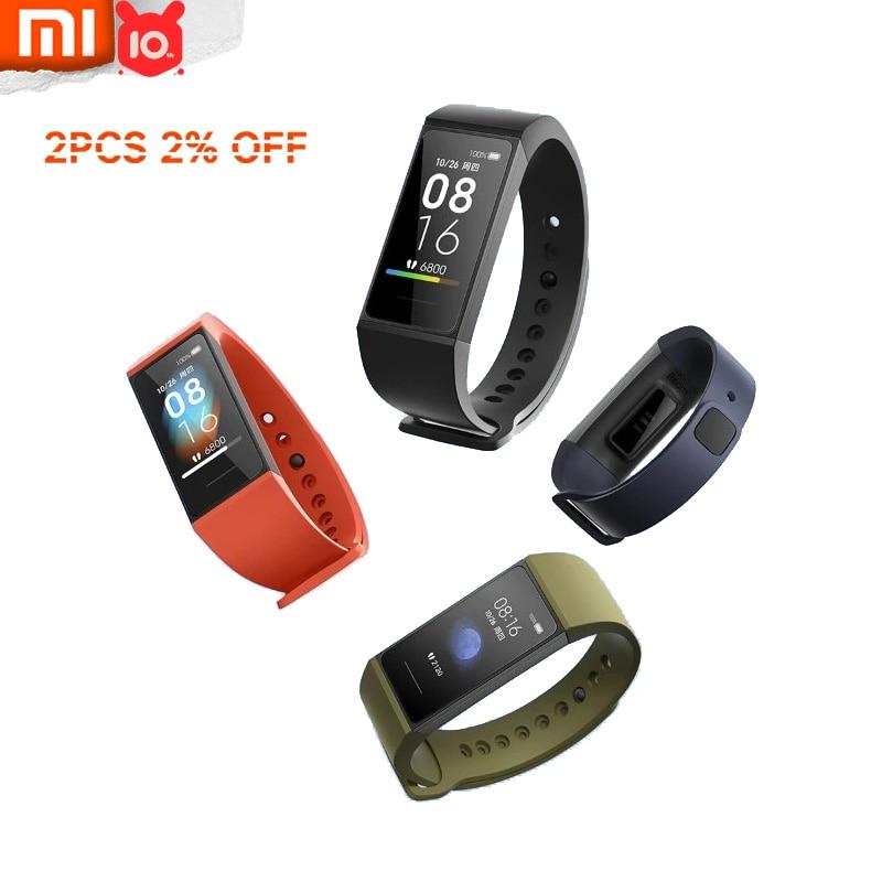 """Xiaomi Redmi banda inteligente pulsera de Fitness múltiples esfera 1,08 """"pantalla táctil de Color de Monitor de ritmo cardíaco durante el sueño"""