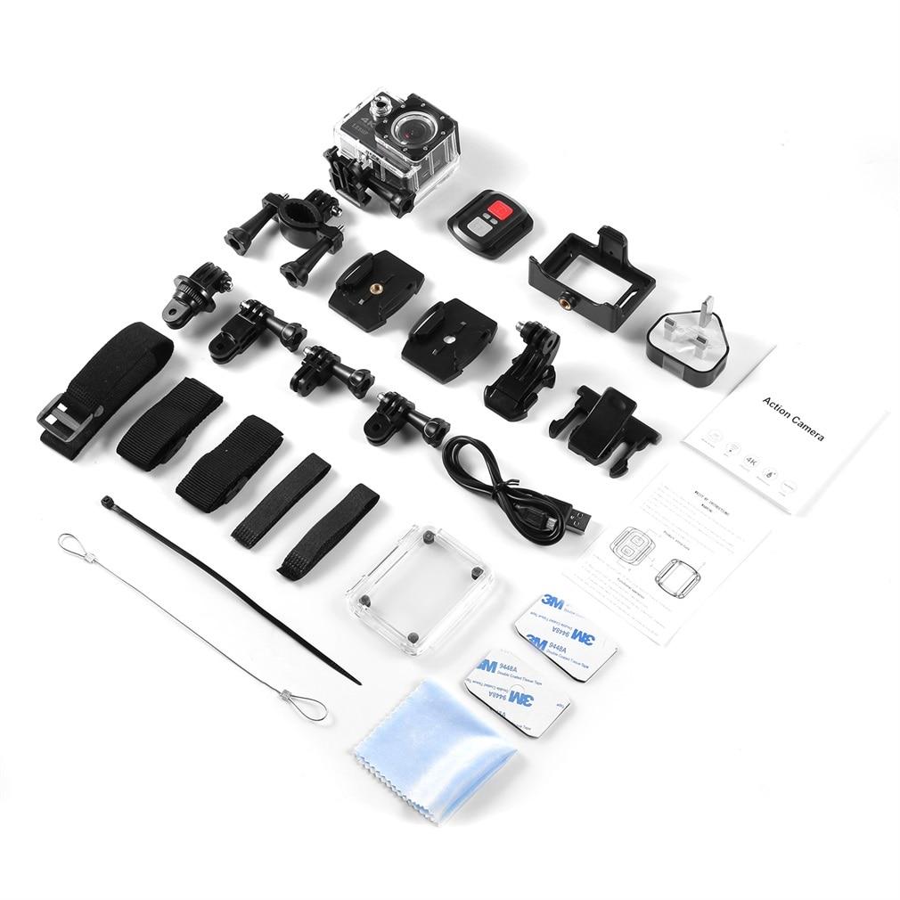 Leshp ultra hd 4k câmera de ação esporte wifi 1080p 16mp + ângulo 170 graus dv à prova ddv água para esportes ao ar livre