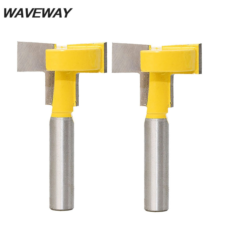 WAVEWAY 8mm la ranura en T & T-Pista ranurado poco de Trimmer de trabajo de la herramienta de corte de borde recto enrutador Blade poco para madera