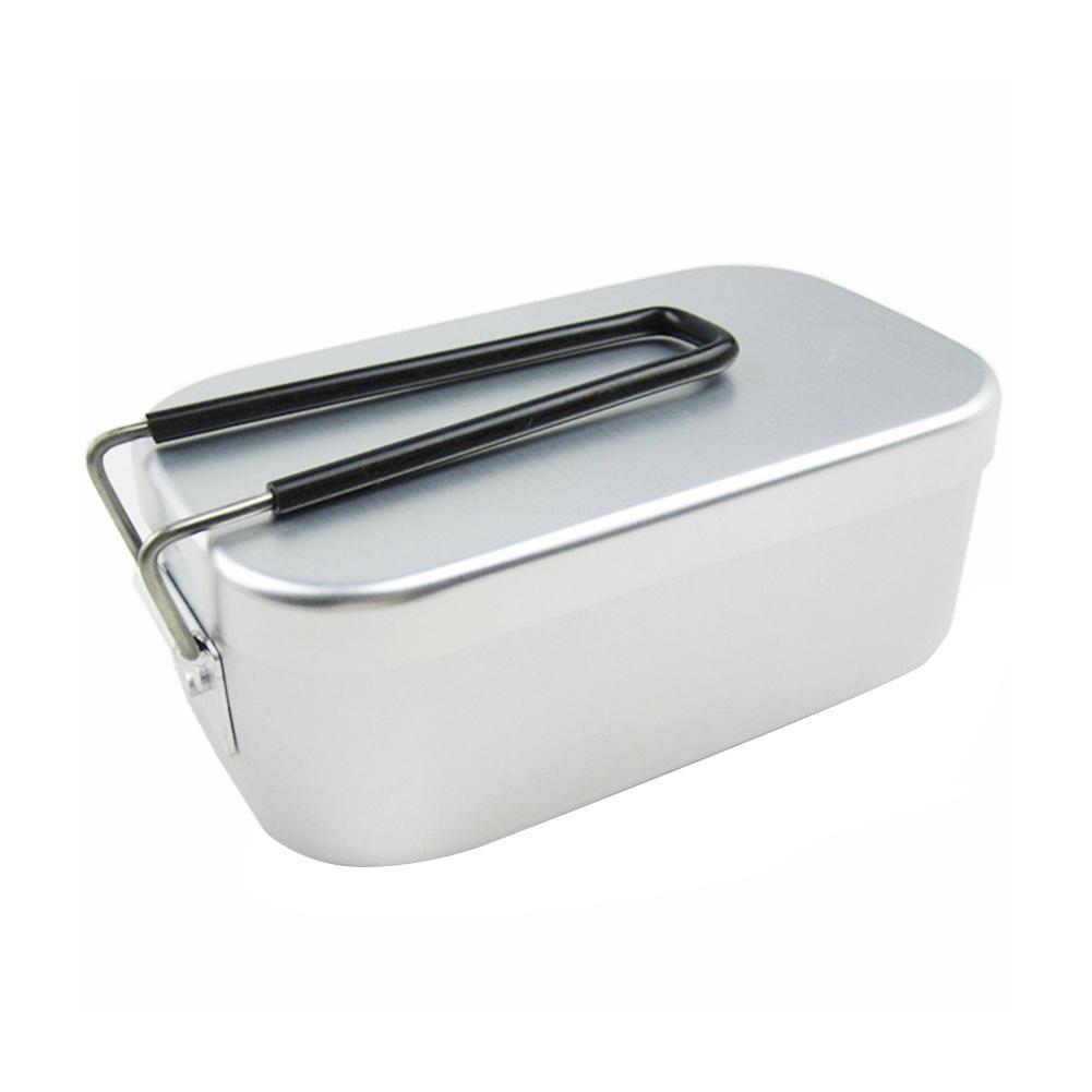 Caixa de almoço de alumínio ultra-leve com alça de viagem portátil de pouco peso grosso japonês caso de alumínio caixa de almoço suprimentos de cozinha