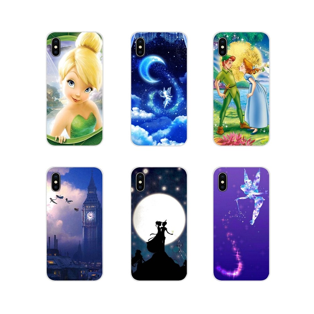 Para Xiaomi Mi4 Mi5 Mi5S Mi6 Mi A1 A2 5X 6X 8 9 Lite SE Pro Mi Max Mix 2 3 2S Peter Pan Wendy Tinkerbell cubierta de la cáscara del teléfono móvil