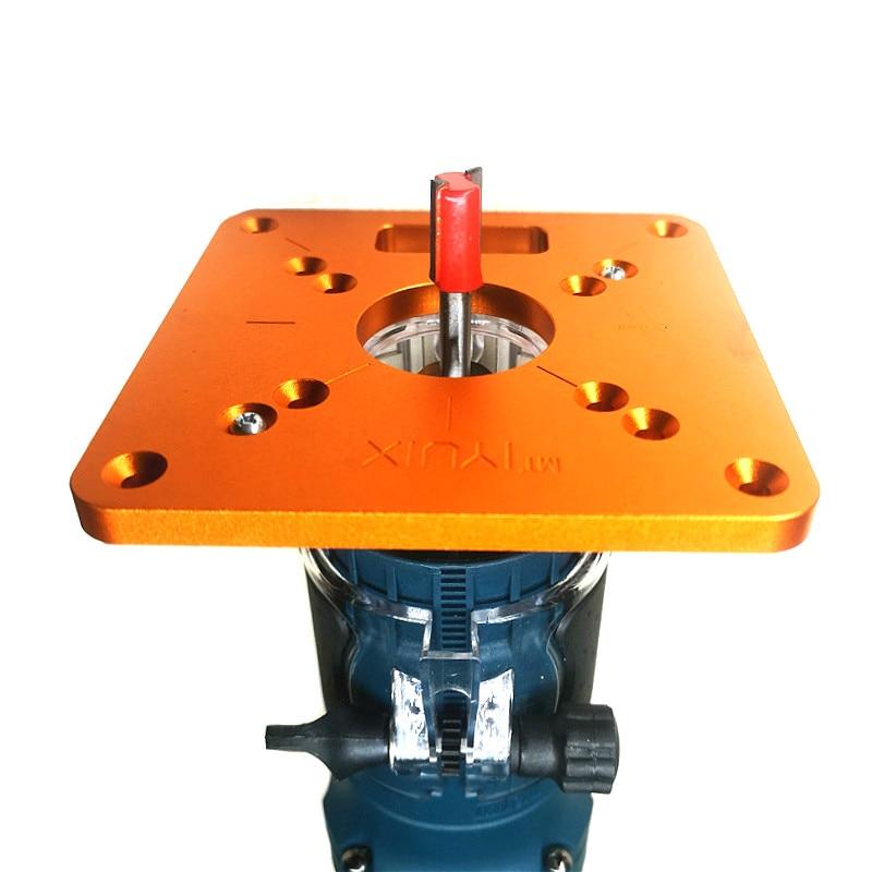 Router in alluminio inserto da tavolo piastra per la lavorazione del - Attrezzature per la lavorazione del legno - Fotografia 5