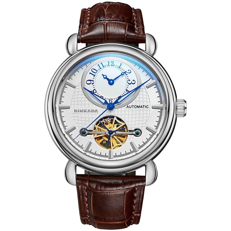 2020 new Swiss top ten brands of automatic mechanical watches men's watches student famous brand genuine men's leather watches