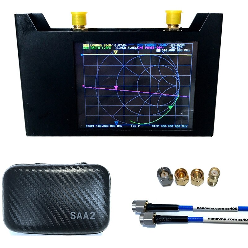V2 3G ناقلات شبكة محلل S-A-A-2 NanoVNA هوائي محلل الخنزير HF VHF UHF مع إيفا حالة هوائي محلل