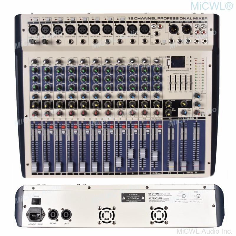 المهنية 2400 واط مكبر كهربائي وحدة التحكم خلط 12 قنوات الأبيض جهاز مزج الصوت بلوتوث سجل 99 DSP تأثير USB 2400 واط