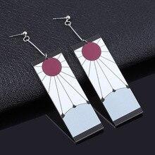 Acrylic Drop Earrings Demon Slayer Kimetsu no Yaiba Blade of Ghost Earings For Women Men Cosplay Jew