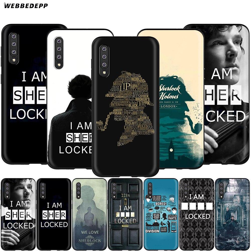 Webbedepp Sherlock Holmes Case for Samsung Galaxy A3 A5 A6 Plus A7 A8 A9 J6 M20 A10S A20S A30S A40S A50S