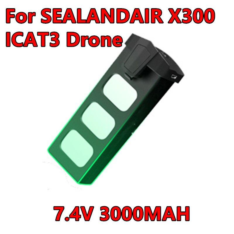 Original SEALANDAIR X300 SMRC ICAT3 batería 7,4 V 3000MAH Lipo batería 30 minutos tiempo de vuelo RC Drone Quadcopter batería de repuesto