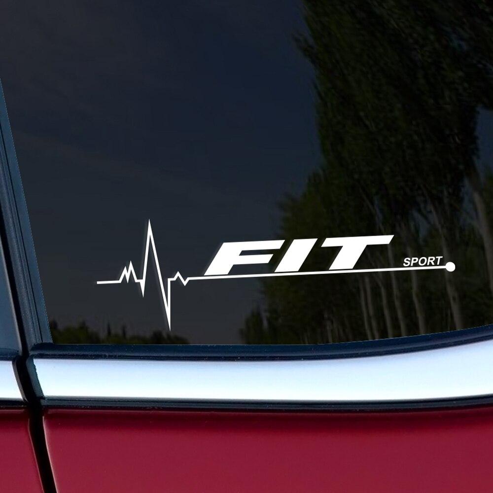 2 шт. 20*7 см Светоотражающие украшения для автомобильного окна, спортивные наклейки для Honda, забавные наклейки для автомобильного бокового ок...