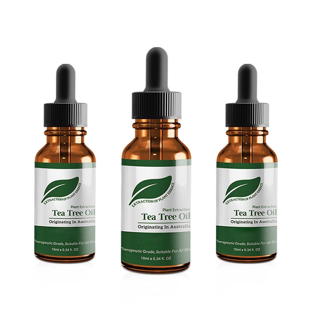 Aceite esencial de árbol de té Natural se decolora acné reduce los poros hidratante antiarrugas cuidado aceite de masaje de la piel para cualquier piel