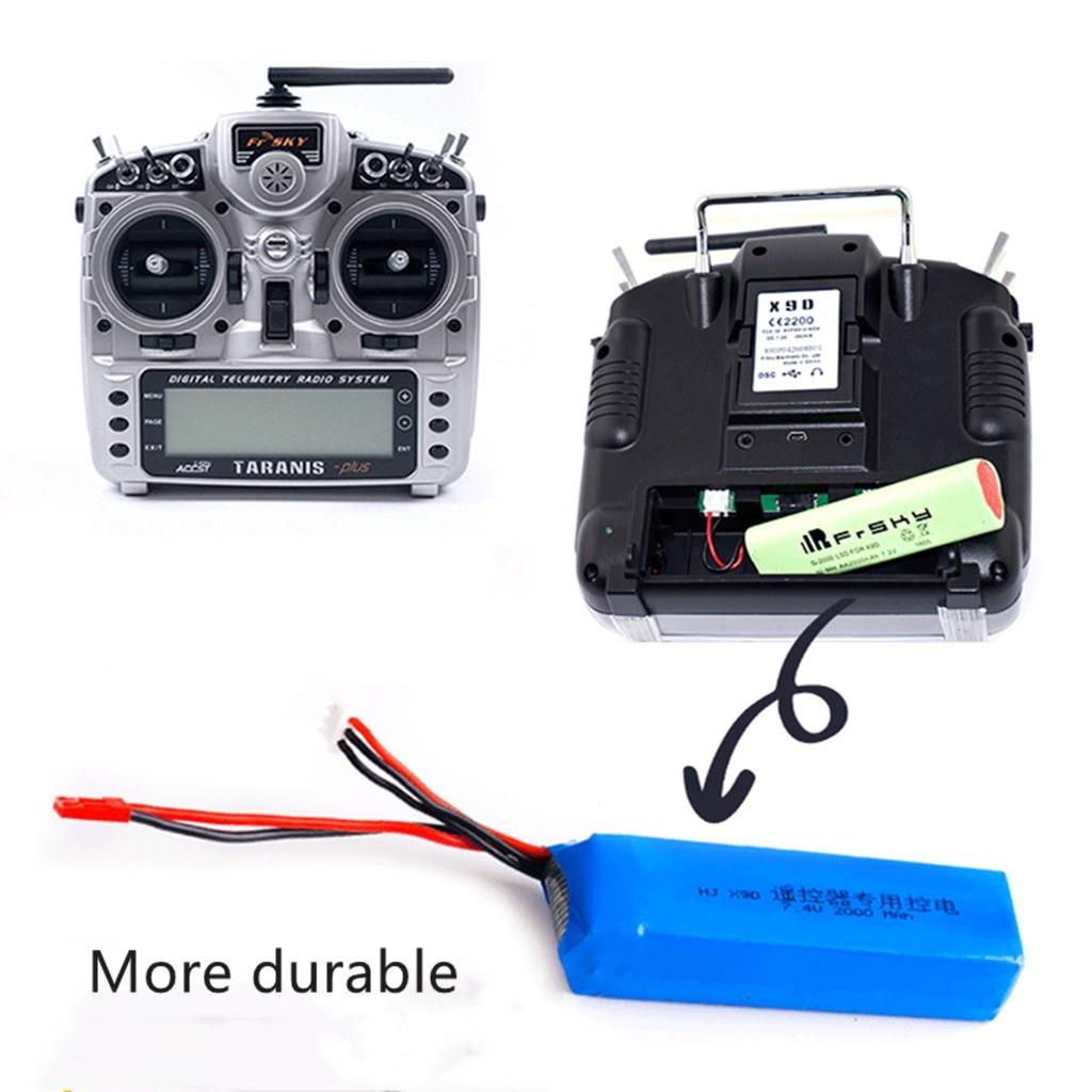 HIINST 1 Uds 7,4 V 3000mAh Lipo batería recargable para Frsky Taranis X9D Plus transmisor control remoto