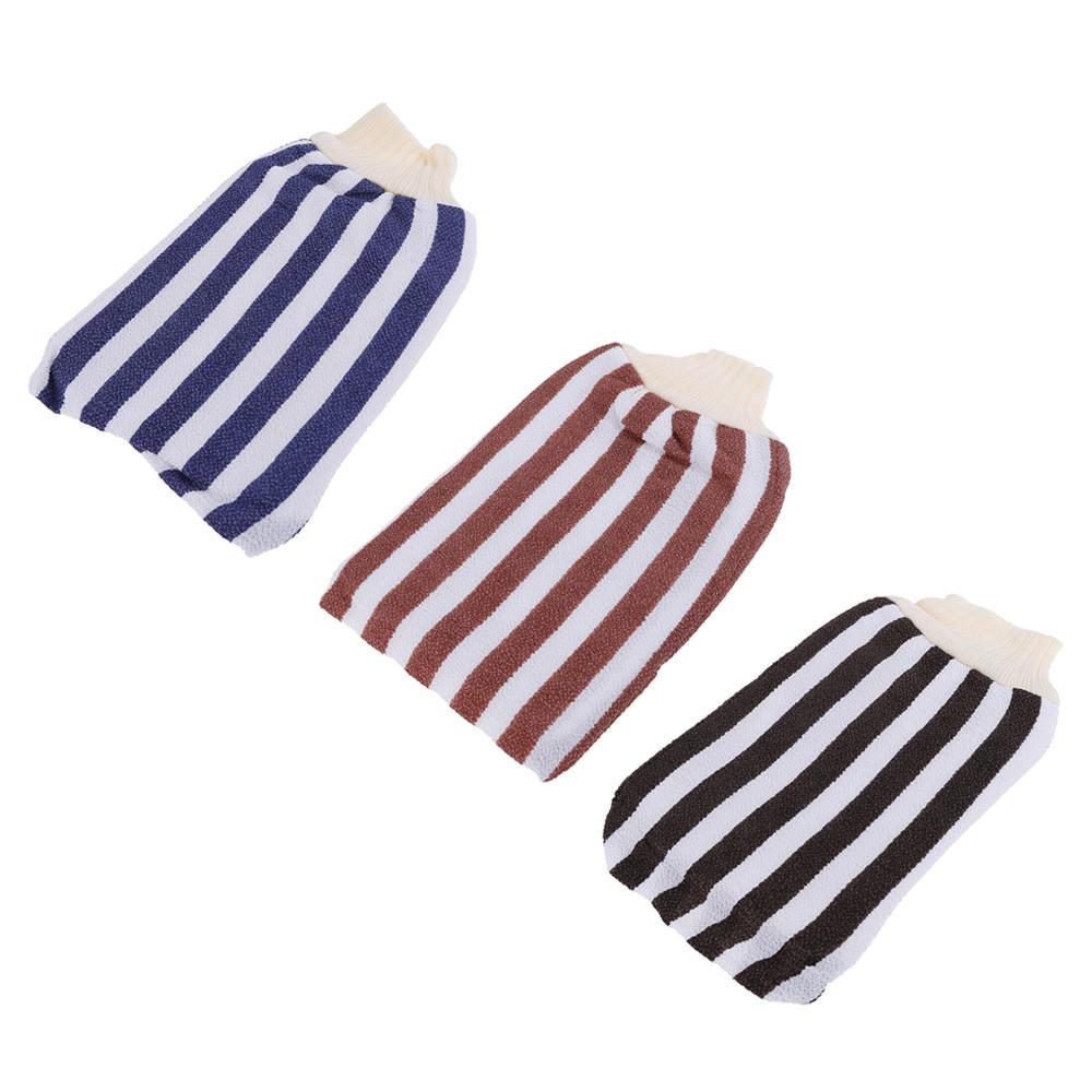 3pcs Exfoliating Body Scrub Gloves Hammam Scrub Mitt Shower Bath Skin Massage Sponge Scrub Glove Bathroom Products