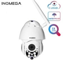 INQMEGA Cloud Открытый 1080P PTZ IP камера скорость купольная 5X зум беспроводная камера с автоматическим отслеживанием сети видеонаблюдения безопасн...