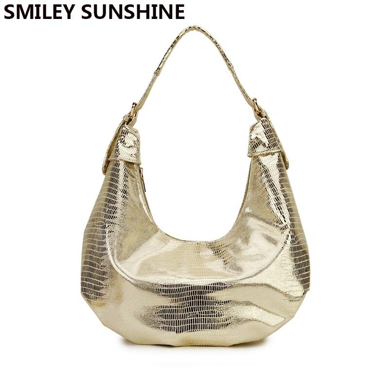New Fashion Snake Women Shoulder Bags Silver Gold Black Handbag PU Leather Female Large Tote Bag Ladies Hand Bag sac a main 2019