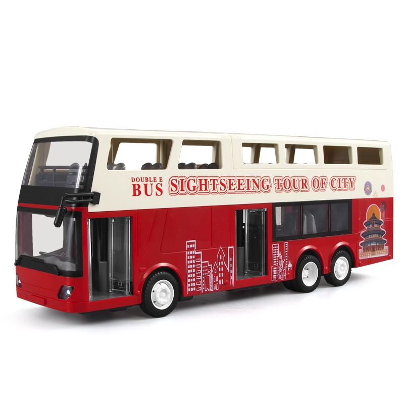 1:18 Rc Car Model High Speed Racing Double-Decker Travel Bus Door Open with Sound and Light Rc Sightseeing Truck Toys Boys Gift enlarge