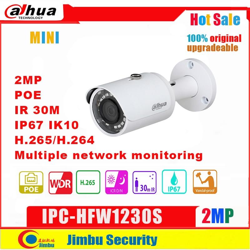 Cámara Dahua IP 2mp POE IPC-HFW1230S H.264 y H.265 full 1080p cámara de red infrate 30m monitoreo de red múltiple P67, PoE