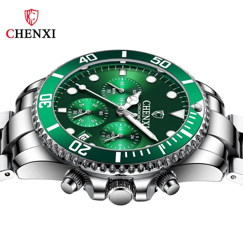 Мужские часы s 2021, роскошные полностью стальные тонкие деловые кварцевые наручные часы, светящиеся водонепроницаемые спортивные часы для м...