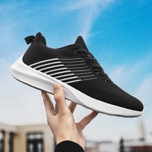 Flying woven Men Sneakers 39-46 Extra Large Men's Shoes Spring and Autumn 45 Breathable Thin Mesh Sn