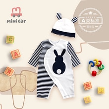 Baby Jumpsuit baby romper spring and autumn climbing clothes cartoon open file hood