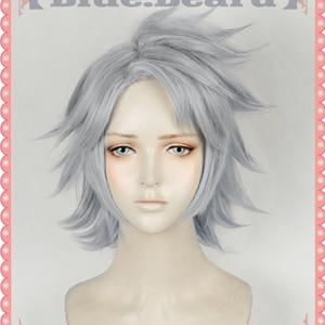 My Hero Academia Tetsutetsu Cosplay Tetsutetsu Wig Hair Silver Gray Boku no Hero Academia Halloween Cosplay Hair