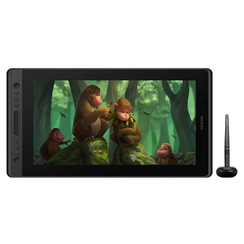 HUION Kamvas Pro 16 120%sRGB Graphic tablet 8192 Levels Tilt Support Drawing tablet Digital Monitor with Shortcut keys