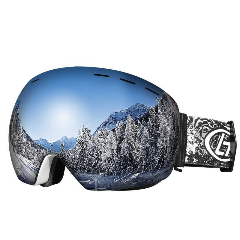Ski Goggles Double Layers Polarized Lens Skiing Anti-fog UV400 Snow Snowboard Goggles Men Women Ski Glasses Big Ski Mask Glasses