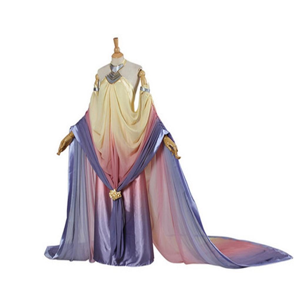 Длинное вечерние нее платье принцессы месть за Sith Padme Amidala