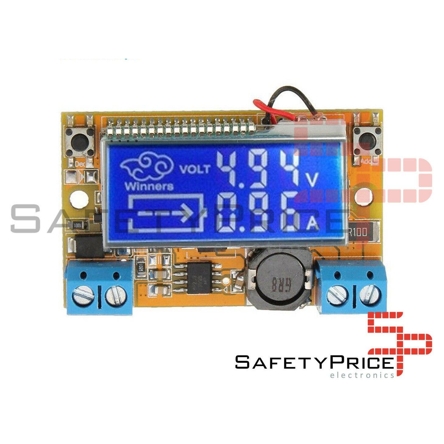 Regulador de tensão-corrente amperagem dc display lcd tensão 5-23 v 3a sp