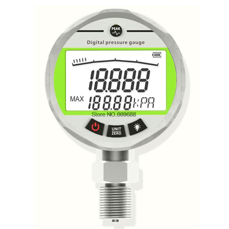 80 مللي متر 0.2 دقة الفولاذ المقاوم للصدأ ذكي الدقة شاشة ديجيتال قياس الضغط فراغ الضغط السلبي المياه