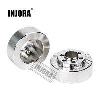 INJORA 2 шт. латунь серебро анодированный тормозной диск веса для 1,9 2,2 дюймов колеса TRX4 TRX6 осевой SCX10 90046 AXI03007